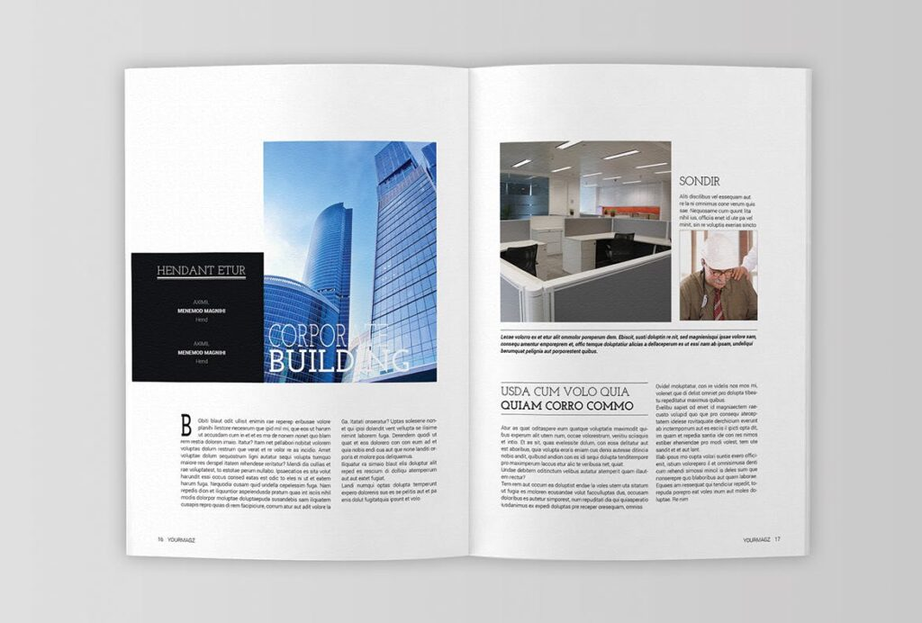 建筑行业/建筑设计作品介绍模板Indesign Magazine Template插图(7)