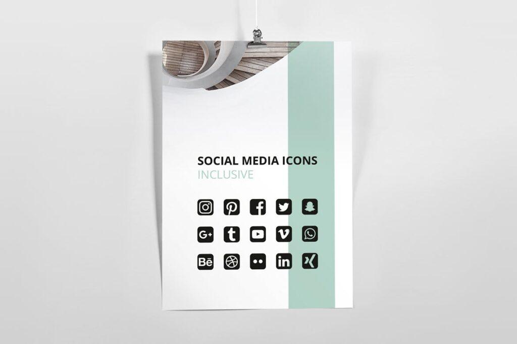 企业简洁板式三折页模板素材下载MINT Multipurpose Trifold Brochure插图(7)