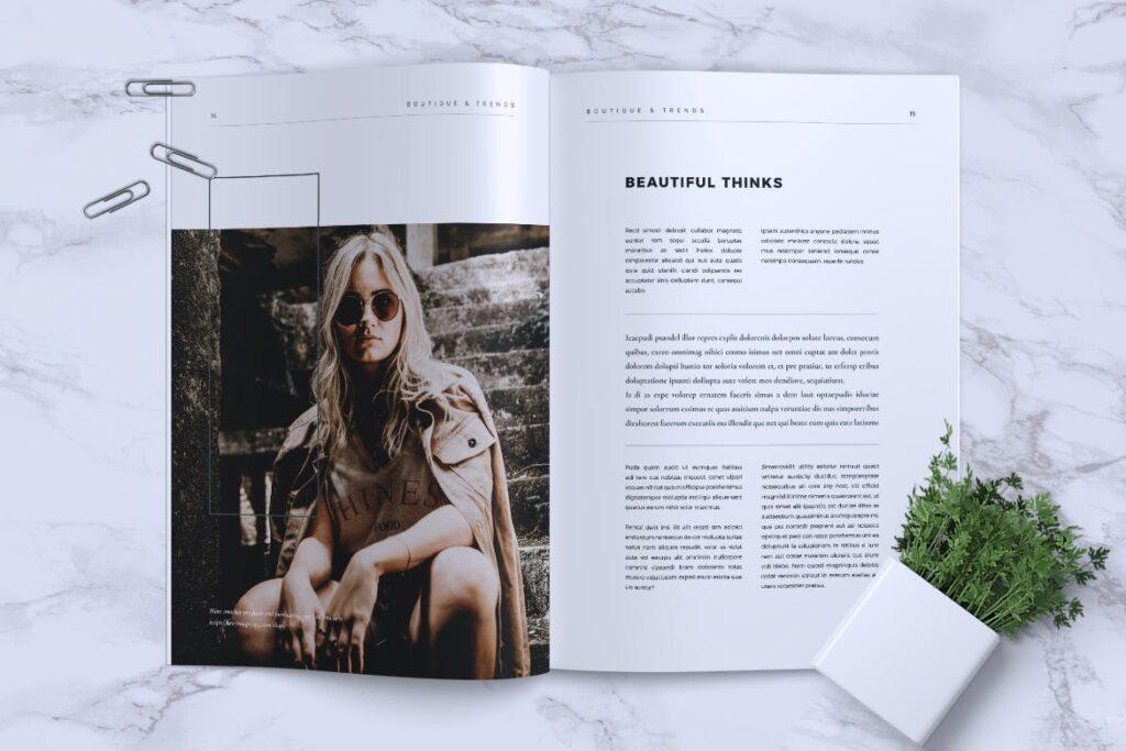 优雅时尚多用途杂志模板MISQUEEN Minimal Magazine Styles插图(7)