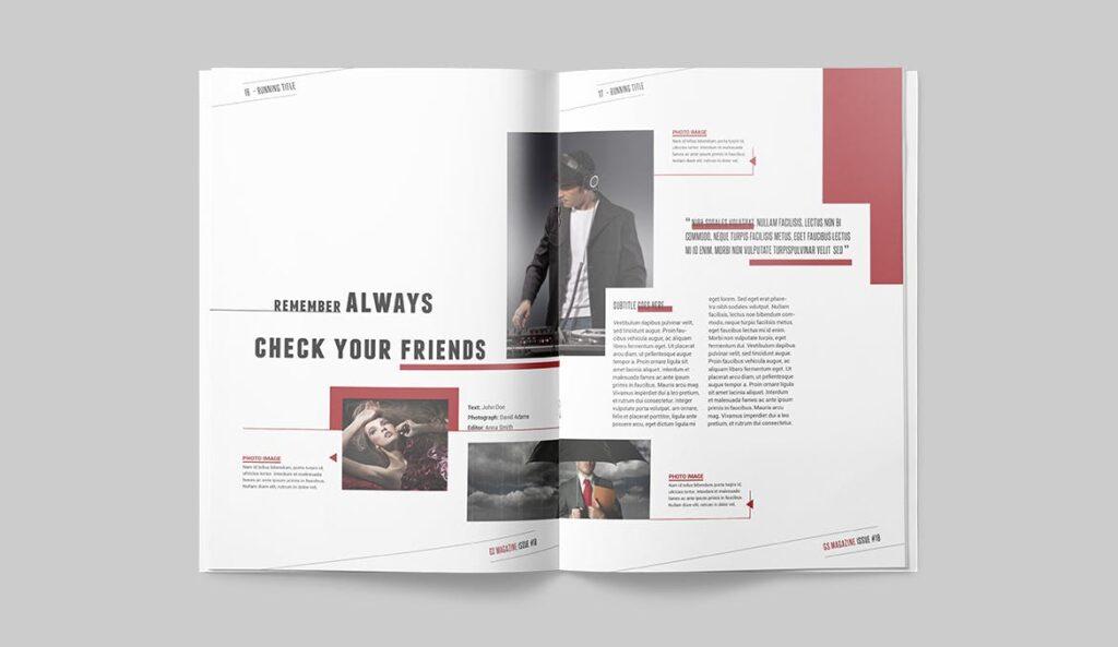精英访谈采访主题杂志模板素材Magazine Template 8NSXE49插图(6)