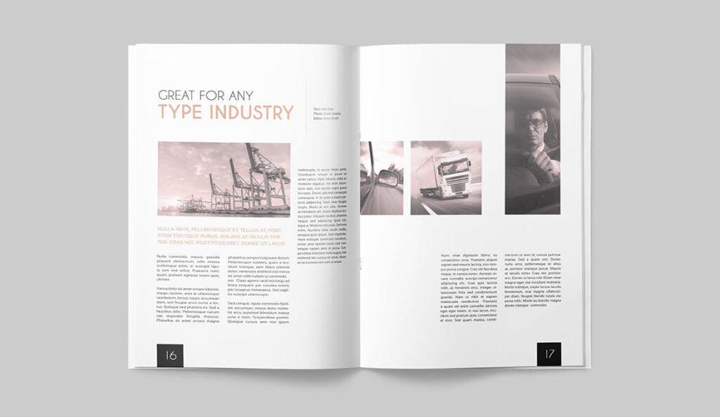 企业多用途杂志画册模板素材下载Magazine Template 4DG6APQ插图(7)