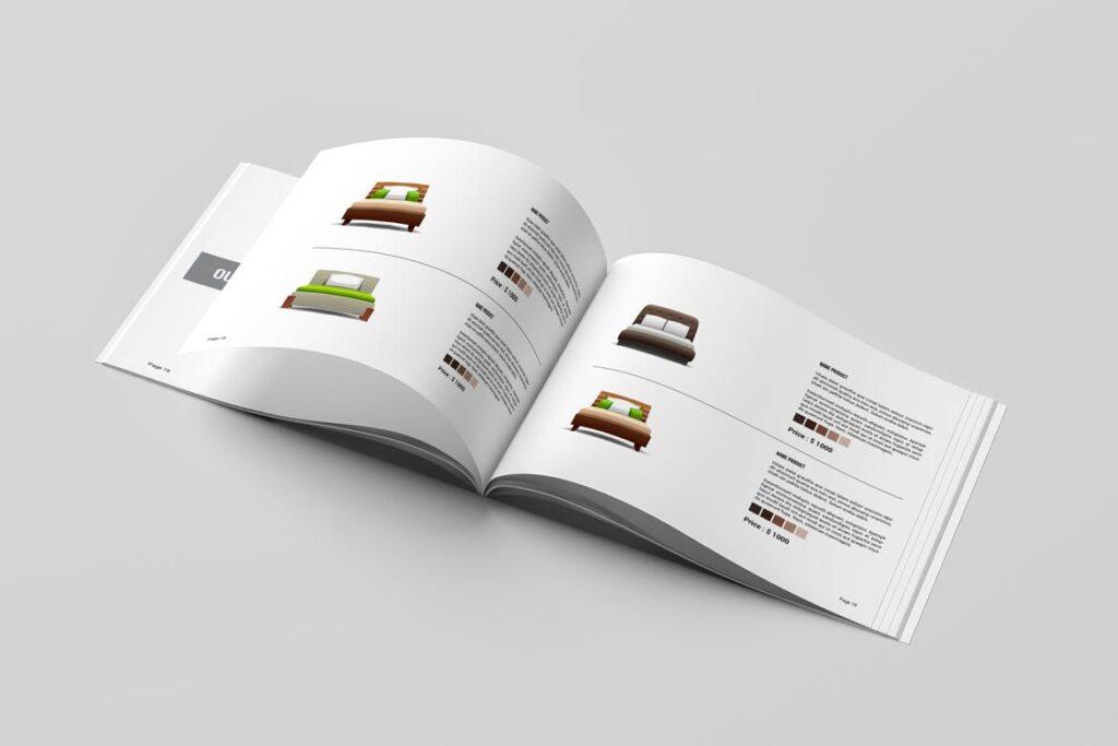 横版室内设计小册子/目录画册模板Minimal Interior Brochure插图(6)