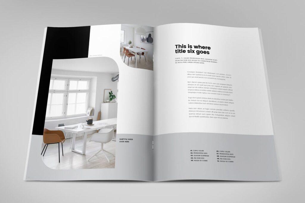 极简室内设计/居家生活美学杂志画册模板Minimal Interior Design Magazine插图(7)