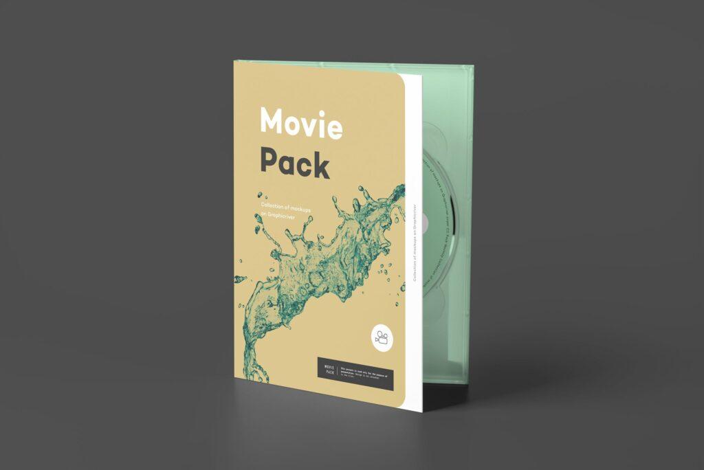 古典电影CD光盘包装/古典音乐唱片模型样机素材模型1Movie Pack Mockup 1插图(7)