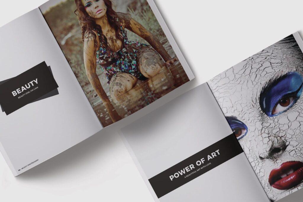 现代简约中性的杂志设计模板Muddy Photograph Magazine Template插图(7)