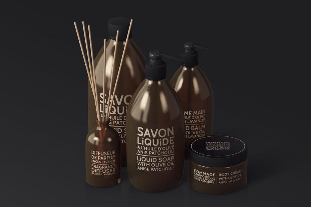 棕色天然化妆品包装瓶实物模型样机Natural Cosmetic Packaging Mock Ups Vol3插图(5)