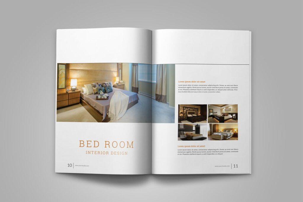 优雅简洁室内设计手册/目录/杂志画册模板PSD Interior Brochures Catalogs Magazine插图(7)