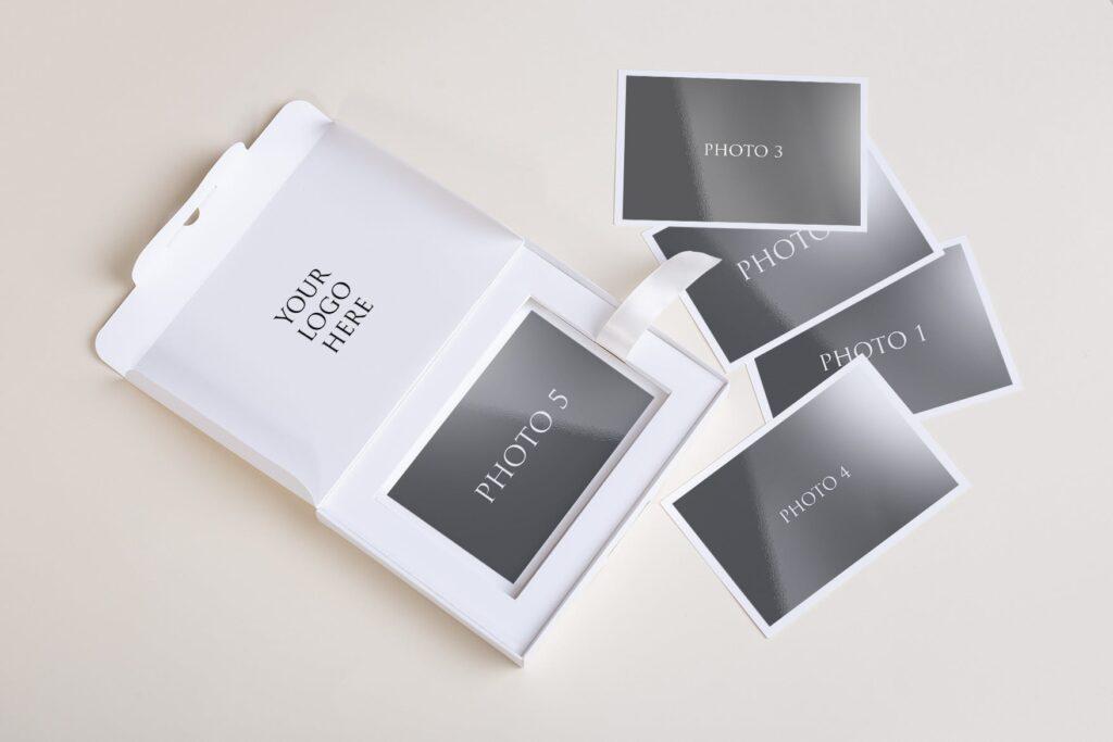 文艺精致旅游纪念相片盒模型样机Photo Box Mock Up P2FNJ8D插图(7)