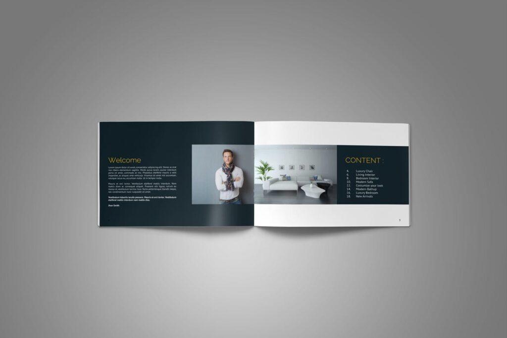横版家居产品介绍/目录/投资组合画册模版素材Portfolio Brochure Catalog插图(5)
