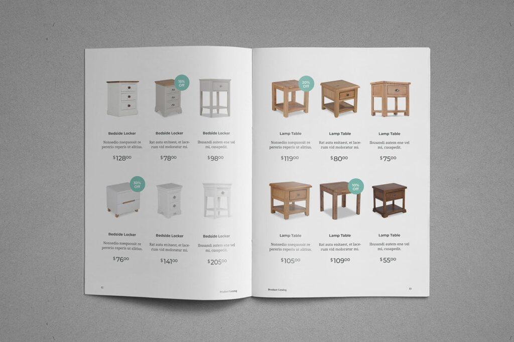 现代专业的产品目录小册子模板素材Product Catalog Brochure插图(7)