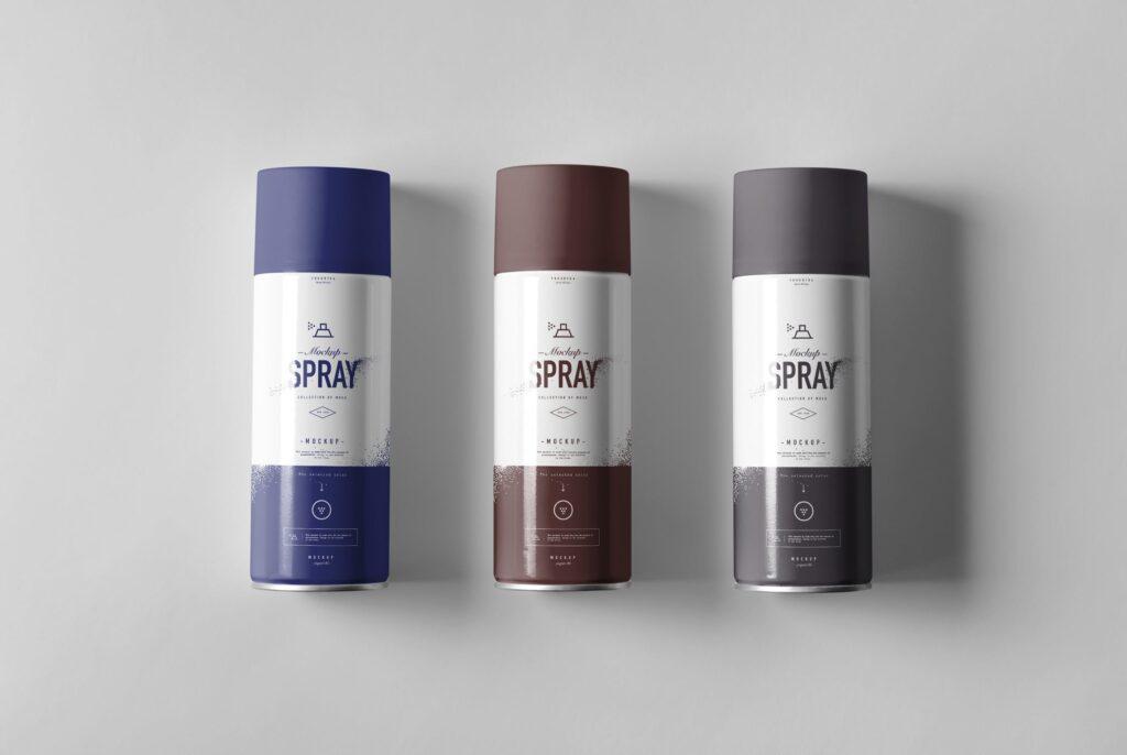 街头艺术喷绘美术作品金属罐模型样机下载Spray Can Mockup 7N8PV8插图(7)