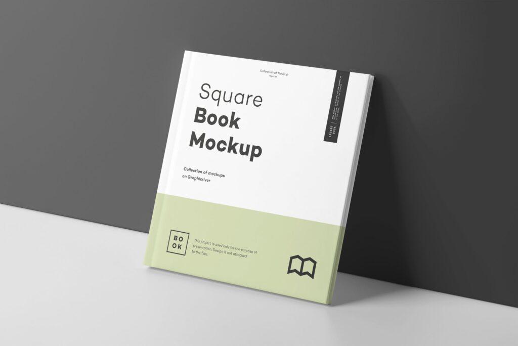 文艺优雅正方形书籍样机模板下载Square Book Mock up 2插图(7)