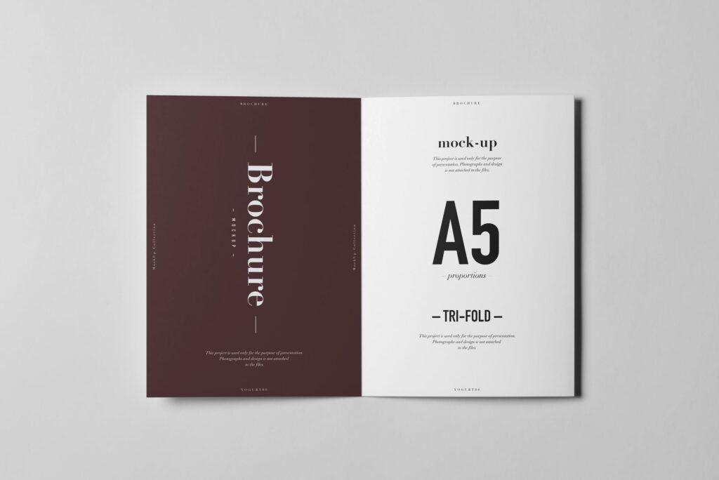 三折A5小册子模型素材模板样机下载Tri Fold A5 Brochure Mock up 2插图(7)