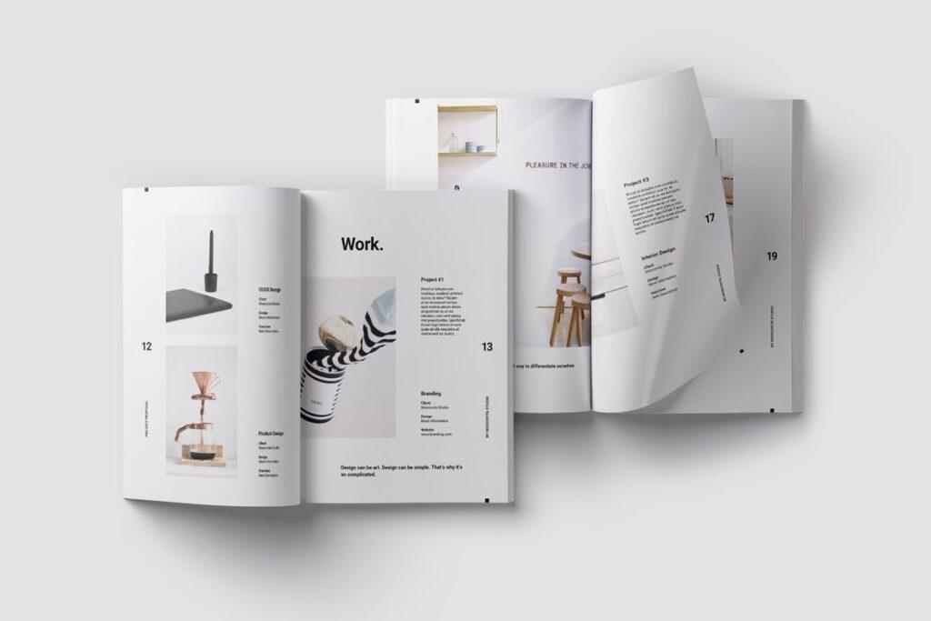 现代生活极致简洁家居设计/室内设计画册模版Voom Proposal插图(7)