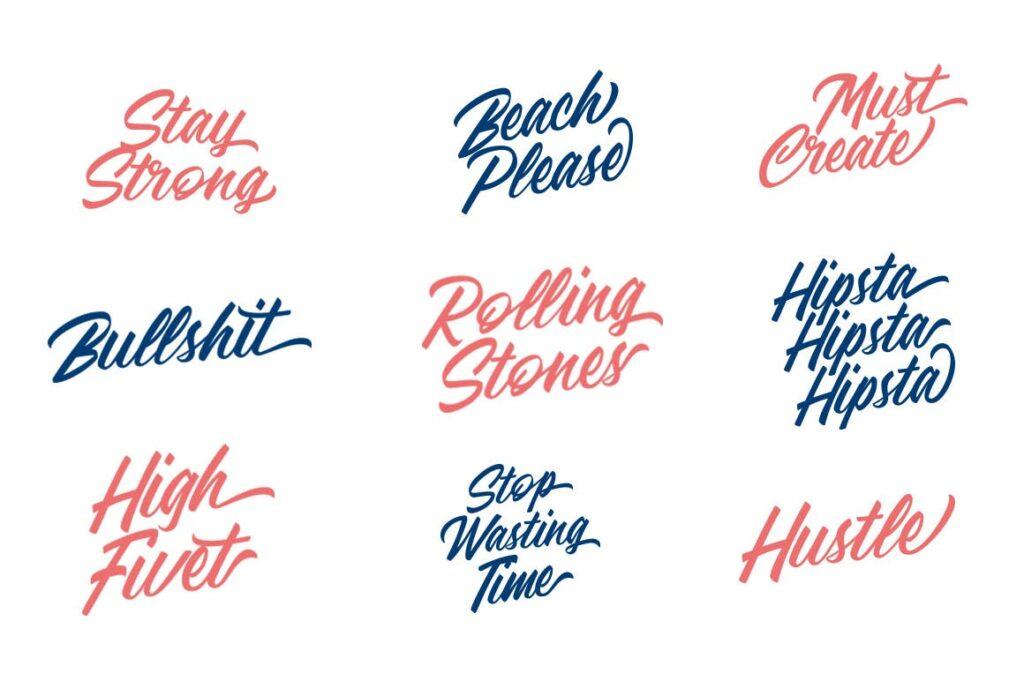 咖啡品牌包装书法风格英文字体下载Adelaide Font插图(7)