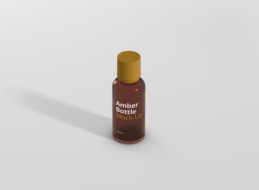 6个高品质琥珀药品瓶模型样机Amber Bottle Mockup插图(8)