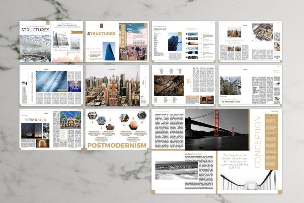 建筑设计/生态空间规划杂志模板Architecture Magazine插图(7)
