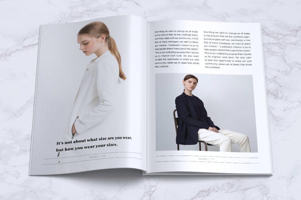 女性时尚服装品牌杂志模板BLANKS Minimal Fashion Magazine插图(8)