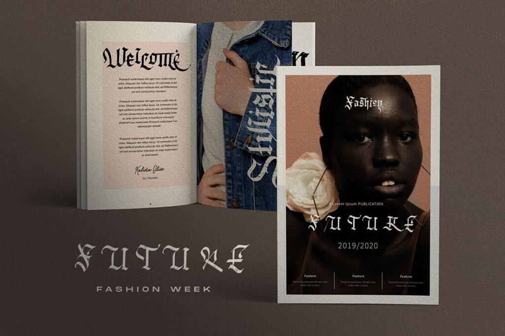 万圣节主题海报宣传衬线英文字体下载Blackink Blackletter Font插图(8)