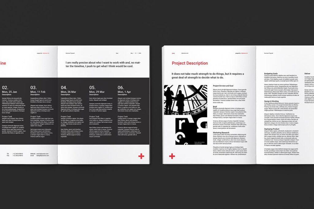 公司手册项目企划书画册模版素材Business Proposal插图(8)