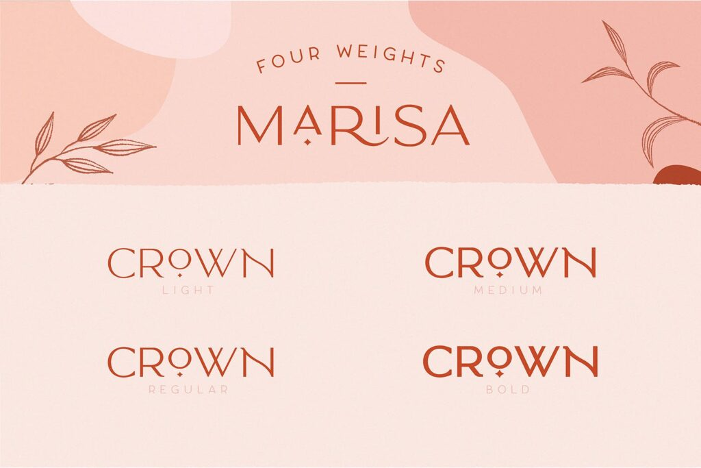 服装品牌装饰手写字体下载Classy Marisa Elegant Typeface插图(7)