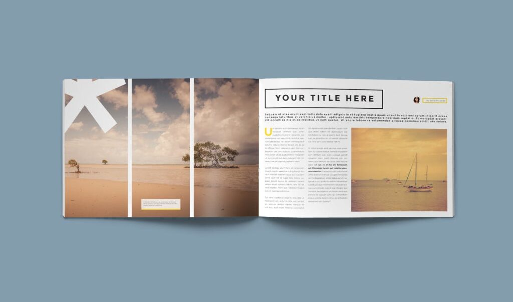 横版企业小册子/目录模板画册杂志模板Clean Brochure Catalog Template插图(8)
