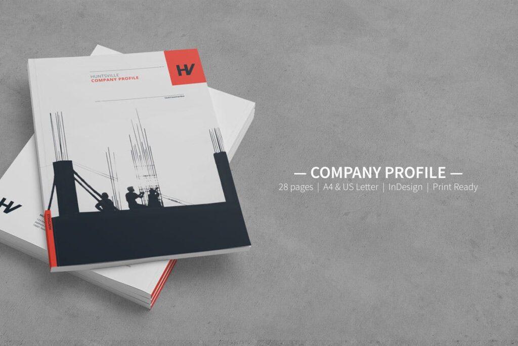 公司动态展示商业手册优雅简洁画册杂志模板Company Profile 001插图(7)