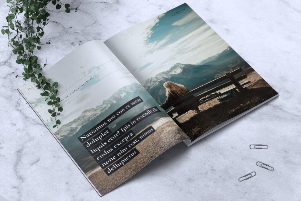高端企业品牌宣传画册模板ELNINO Minimal Magazine插图(7)