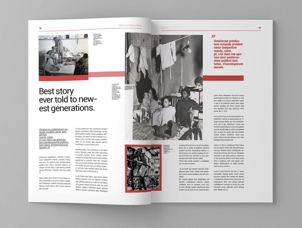 大纪元历史记录风格杂志画册模板素材Epoch Magazine Template插图(8)