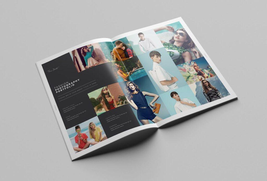 时尚摄影简洁板式画册杂志模板素材下载Fashion Photography Catalog Brochure插图(7)