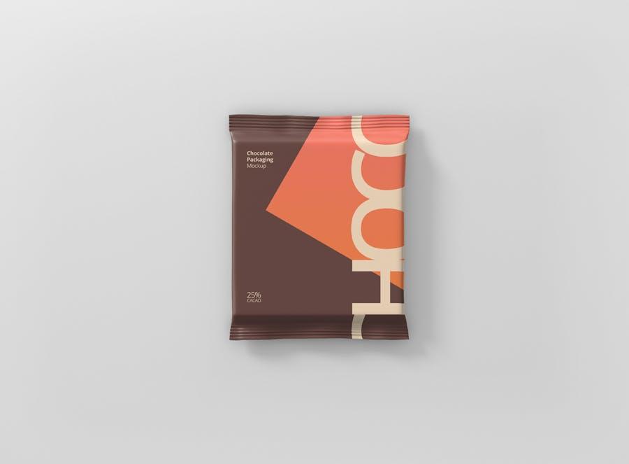真空巧克力包装模型样机素材下载Foil Chocolate Packaging Mockup Square Size插图(8)