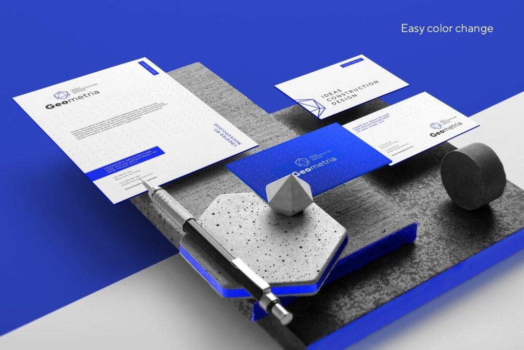 高端轻奢风房地产品牌VI模型样机效果图Geometria Branding Mockup Vol1插图(8)