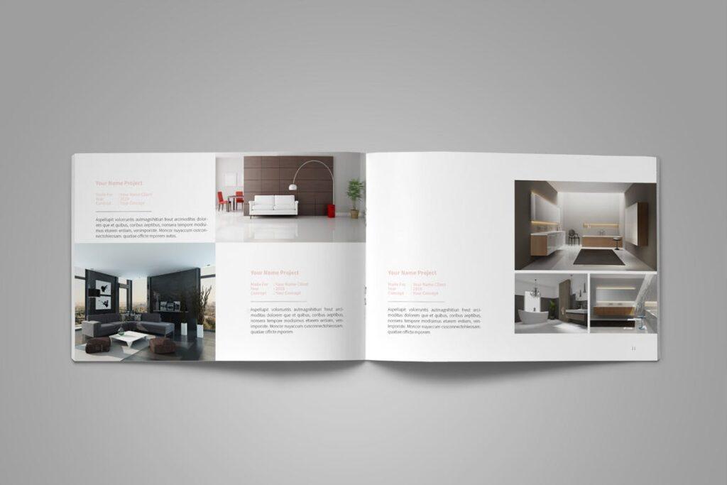 设计师工作产品/室内设计/家居设计展示画册模版Graphic Design Portfolio Template插图(8)