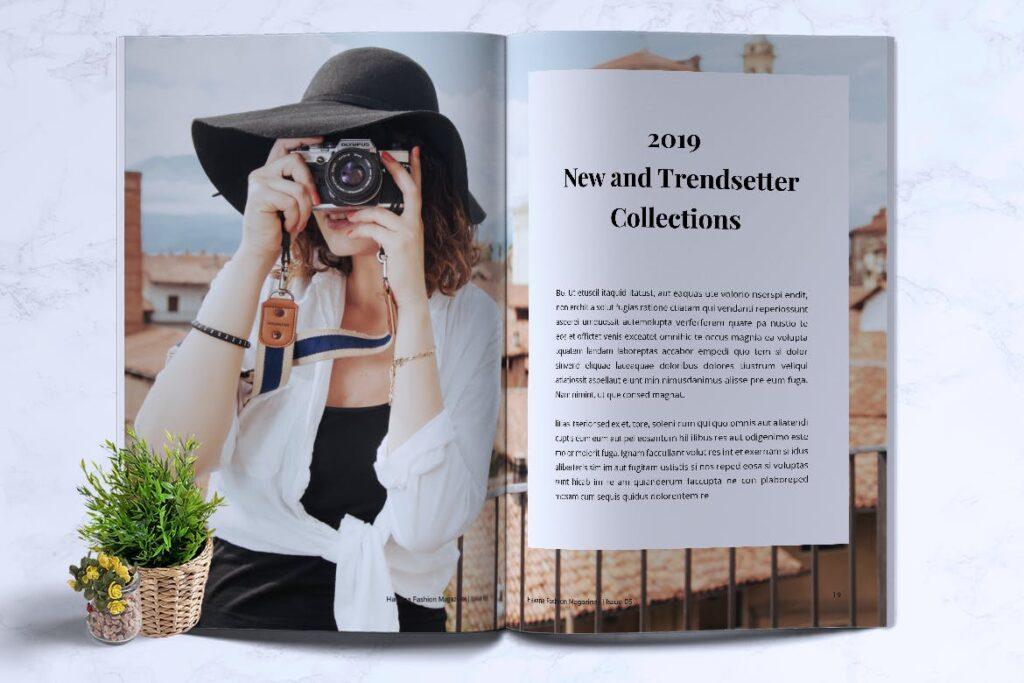 简约风格摄影工作室画册杂志模板HAVANA Minimal Magazine Fashion插图(8)