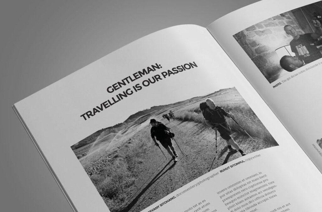 黑白风格历史介绍杂志模版素材InDesign Magazine Template WBM4TW插图(8)
