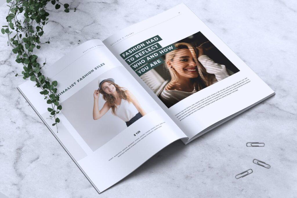 优雅时尚多用途杂志模板MISQUEEN Minimal Magazine Styles插图(8)