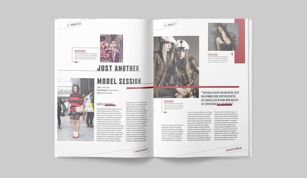 精英访谈采访主题杂志模板素材Magazine Template 8NSXE49插图(7)