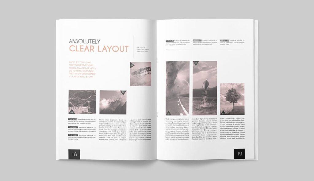 企业多用途杂志画册模板素材下载Magazine Template 4DG6APQ插图(8)