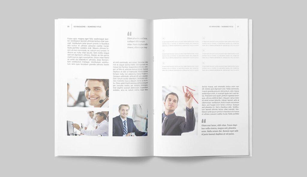 企业商务多用途/企业规划手册模板Magazine Template插图(8)