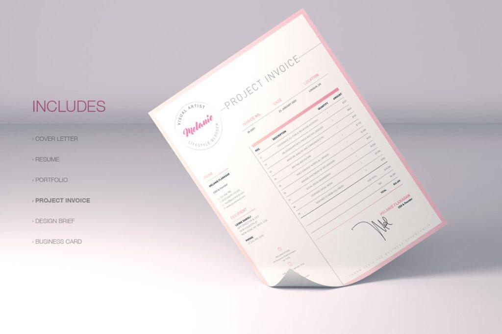时尚多行业多用途印刷类模版素材Melanie Creative Stationery 01插图(8)
