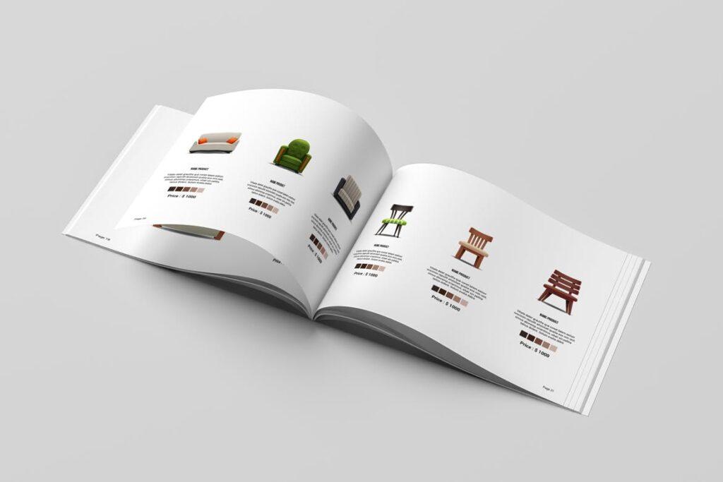 横版室内设计小册子/目录画册模板Minimal Interior Brochure插图(7)