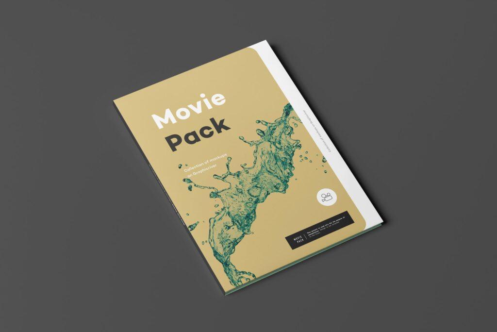 古典电影CD光盘包装/古典音乐唱片模型样机素材模型1Movie Pack Mockup 1插图(8)