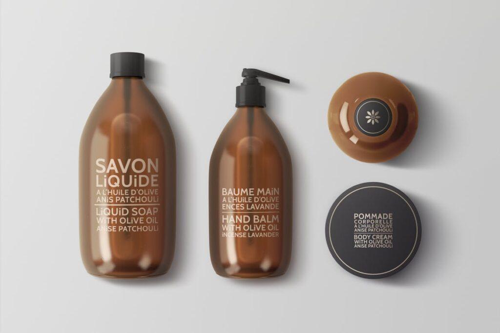 棕色天然化妆品包装瓶实物模型样机Natural Cosmetic Packaging Mock Ups Vol3插图(6)