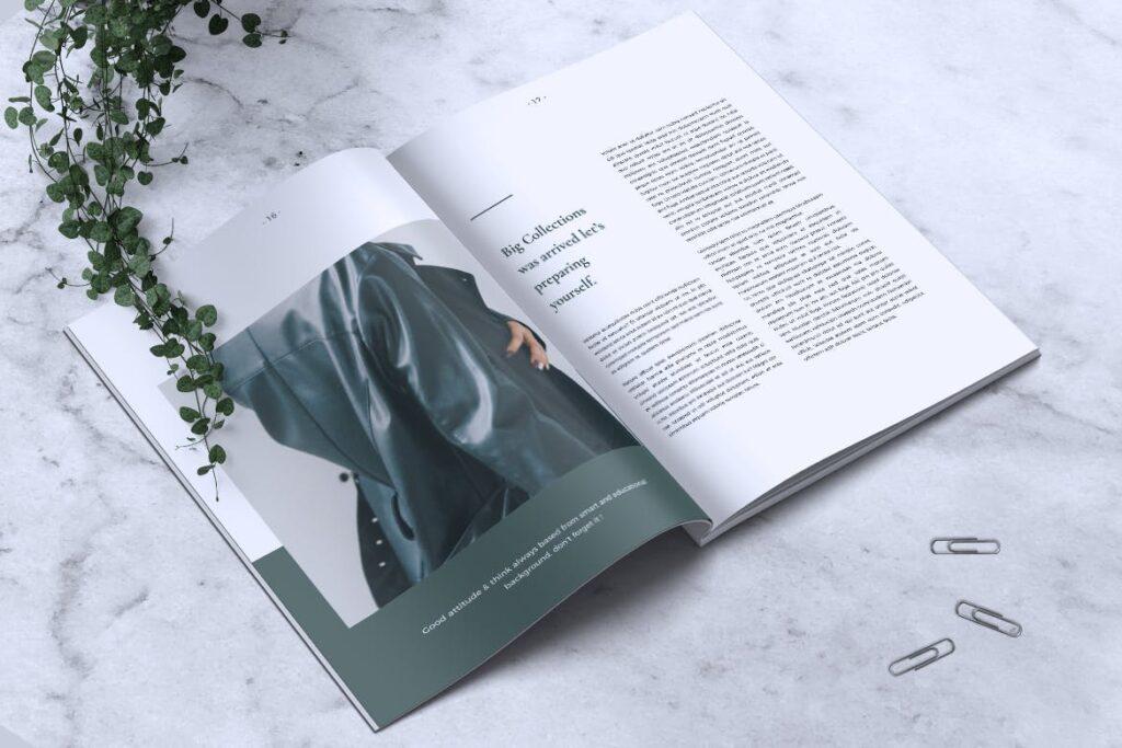 简约企业商务小册子目录/多用途画册模板PLUMERY Minimal Magazines插图(8)