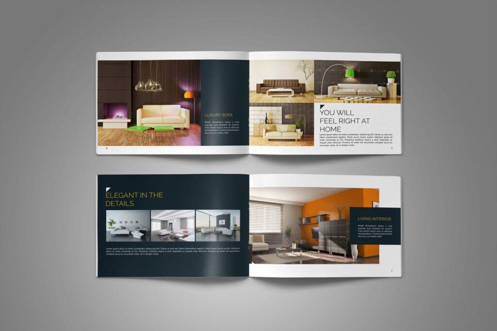 横版家居产品介绍/目录/投资组合画册模版素材Portfolio Brochure Catalog插图(6)
