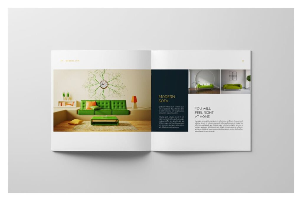 多用途目录/小册子/投资组合画册杂志模板Portfolio Brochure Catalogs插图(7)