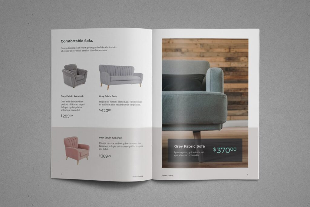 现代专业的产品目录小册子模板素材Product Catalog Brochure插图(8)