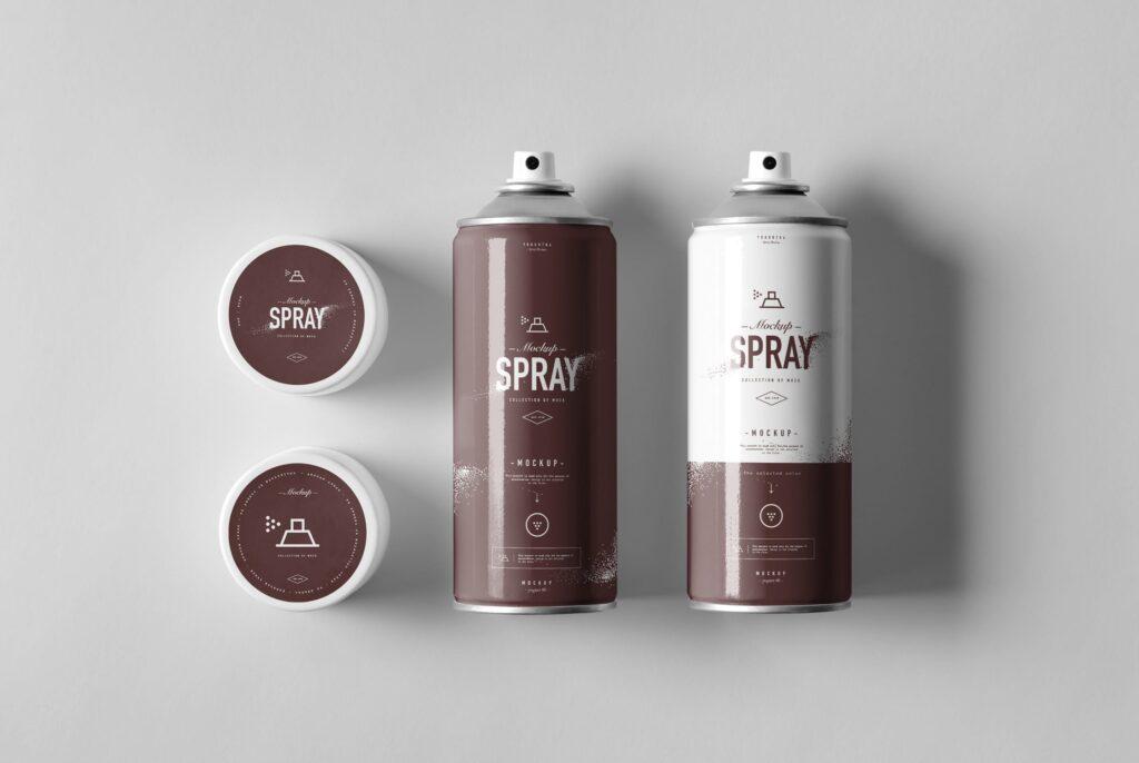 街头艺术喷绘美术作品金属罐模型样机下载Spray Can Mockup 7N8PV8插图(8)