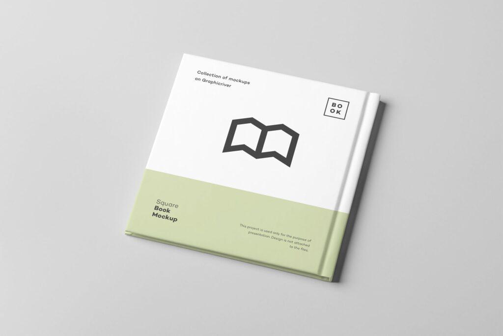 文艺优雅正方形书籍样机模板下载Square Book Mock up 2插图(8)