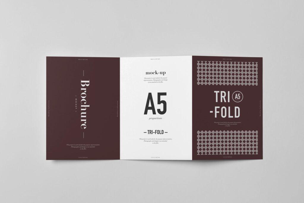 三折A5小册子模型素材模板样机下载Tri Fold A5 Brochure Mock up 2插图(8)